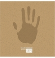 Handprint on paper vector image