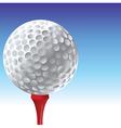 Golf tee vector image