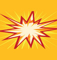 comic flash in the form of multipath stars vector image