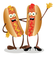 hot dog couple vector image vector image