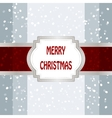 Christmas Background With Frame vector image