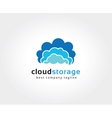 Abstract cloud brain logo icon concept Logotype vector image