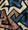 urban graffiti seamless texture with grunge effect vector image