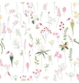 Seamless pretty pattern with stylized forest vector image