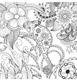 Cute chameleon in fantasy flowers vector image
