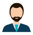 Businessman profile colorful avatar isolated flat vector image