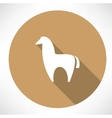 alpaca icon vector image