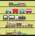 cartoon toy train railroad and cartoon vector image
