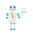 home robot for housework vector image