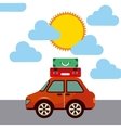 travel car vehicle icon vector image