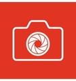 The camera icon Photo symbol Flat vector image