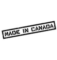 Made in Canada rubber stamp vector image