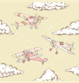 seaml colors airplanes-09 vector image