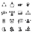 business team building concept icons set vector image