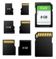 Memory card set vector image vector image