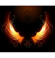 fiery wings vector image vector image