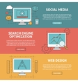 Seo social media and graphic design concept vector image