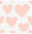 Hearts and Dots Pattern vector image