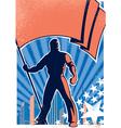flag bearer poster 2 vector image