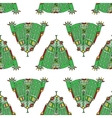 frog seamless pattern vector image
