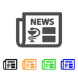 medical newspaper flat icon vector image