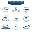Seafood logos template vector image