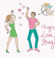 Valentine dance vector image