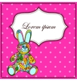 Background with bunny toy vector image