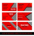 Business card driver race - second set vector image vector image
