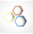 Hexagon web design vector image