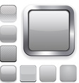 Square grey app icons vector image