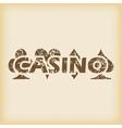 Grungy casino icon vector image