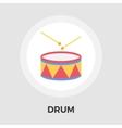 Drum flat icon vector image