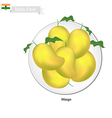Fresh Mango A Famous Fruit in Indian vector image