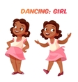 African american dancing cute girl vector image