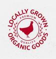 chicken silhouette logo label badge emblem vector image
