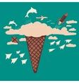 ice cream dream and fantasy vector image