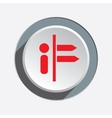 Info direction icon Information symbol Red sign vector image