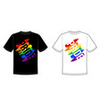 print for t-shirt with pride lgbt bright vector image