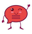 speech bubble message kawaii character vector image
