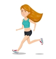 character woman running sport icon vector image