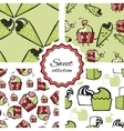 Seamless pattern with hand drawn ice cream or vector image