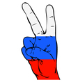 Peace Sign of the Russian flag vector image