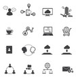 big data icons set business and social network vector image vector image
