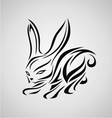 Tribal Rabbit vector image vector image