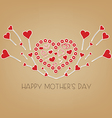 happy Mothers day with wings hearts vector image