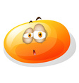 Yellowish slime with sad face vector image