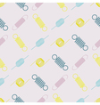 seamless background with springs vector image