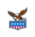 American Eagle Towing J Hook USA Flag Retro vector image