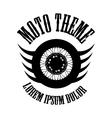 Moto wheel Logo Symbol vector image
